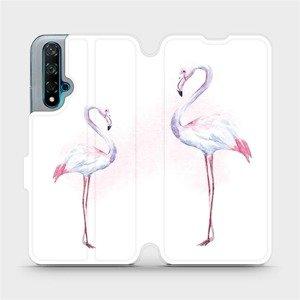 Flipové pouzdro Mobiwear na mobil Huawei Nova 5T - M005S Plameňáci