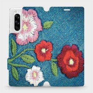 Flipové pouzdro Mobiwear na mobil Sony Xperia 5 - MD05P Džínové květy