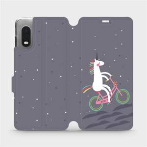 Flipové pouzdro Mobiwear na mobil Samsung Xcover PRO - V024P Jednorožec na kole