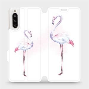 Flipové pouzdro Mobiwear na mobil Sony Xperia 10 II - M005S Plameňáci