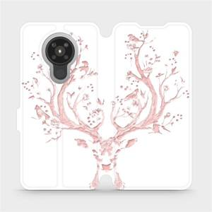 Flipové pouzdro Mobiwear na mobil Nokia 5.3 - M007S Růžový jelínek