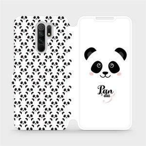 Flipové pouzdro Mobiwear na mobil Xiaomi Redmi 9 - M030P Panda Amálka