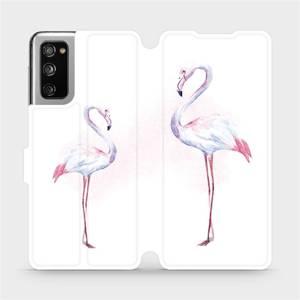 Flipové pouzdro Mobiwear na mobil Samsung Galaxy S20 FE - M005S Plameňáci