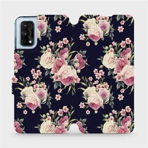 Flipové pouzdro Mobiwear na mobil Realme 7 Pro - V068P Růžičky