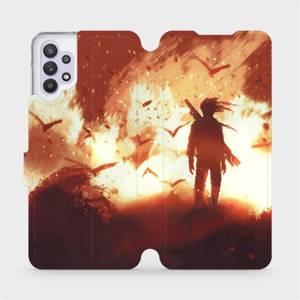 Flipové pouzdro Mobiwear na mobil Samsung Galaxy A32 5G - MA06S Postava v ohni