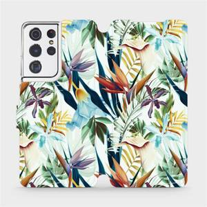 Flipové pouzdro Mobiwear na mobil Samsung Galaxy S21 Ultra 5G - M071P Flóra