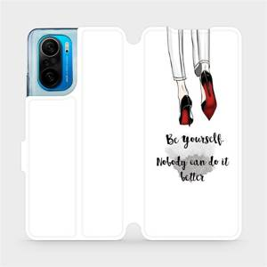 Flipové pouzdro Mobiwear na mobil Xiaomi Mi 11i / Xiaomi Poco F3 - M046P Be yourself