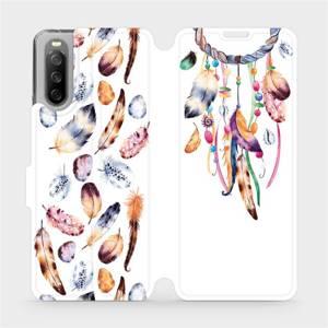 Flip pouzdro Mobiwear na mobil Sony Xperia 10 III - M003S Lapač a barevná pírka