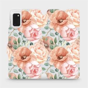 Flip pouzdro Mobiwear na mobil Samsung Galaxy A41 - MP02S Pastelové květy
