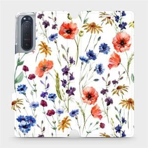 Flip pouzdro Mobiwear na mobil Sony Xperia 5 II - MP04S Luční kvítí