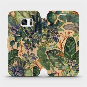 Flip pouzdro Mobiwear na mobil Samsung Galaxy S7 - VP05S Sukulenty