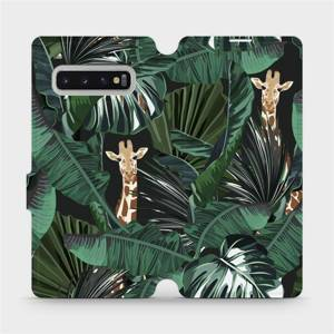 Flip pouzdro Mobiwear na mobil Samsung Galaxy S10 Plus - VP06P Žirafky