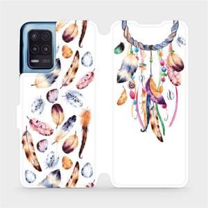 Flip pouzdro Mobiwear na mobil Realme 8 5G - M003S Lapač a barevná pírka