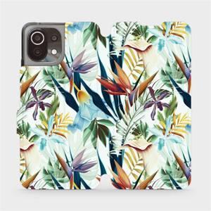 Flip pouzdro Mobiwear na mobil Xiaomi 11 Lite 5G NE - M071P Flóra