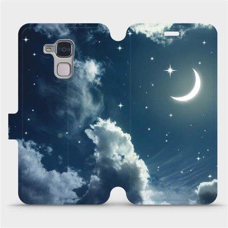 Flipové pouzdro Mobiwear na mobil Honor 7 Lite - V145P Noční obloha s měsícem