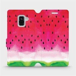 Flipové pouzdro Mobiwear na mobil Samsung Galaxy A8 2018 - V086S Melounek