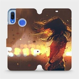 Flipové pouzdro Mobiwear na mobil Huawei Nova 3 - MA02S Tetovaná dívka