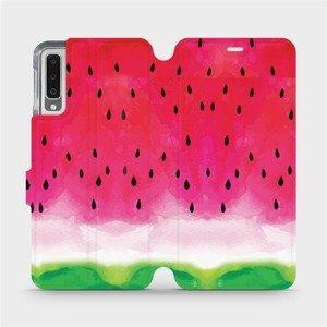 Flipové pouzdro Mobiwear na mobil Samsung Galaxy A7 2018 - V086S Melounek