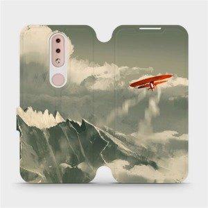 Flipové pouzdro Mobiwear na mobil Nokia 4.2 - MA03P Oranžové letadlo v horách