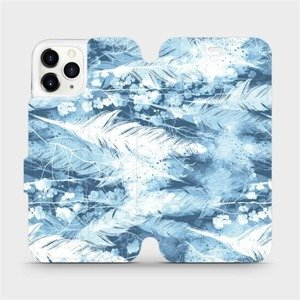 Flipové pouzdro Mobiwear na mobil Apple iPhone 11 Pro - M058S Světle modrá horizontální pírka