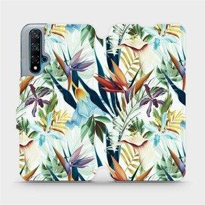 Flipové pouzdro Mobiwear na mobil Huawei Nova 5T - M071P Flóra