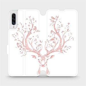 Flipové pouzdro Mobiwear na mobil Samsung Galaxy A30s - M007S Růžový jelínek