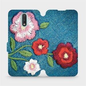 Flipové pouzdro Mobiwear na mobil Nokia 2.3 - MD05P Džínové květy