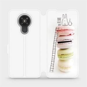 Flipové pouzdro Mobiwear na mobil Nokia 5.3 - M090P Makronky - have a nice day