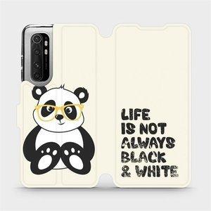 Flipové pouzdro Mobiwear na mobil Xiaomi Mi Note 10 Lite - M041S Panda - life is not always black and white