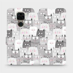 Flipové pouzdro Mobiwear na mobil Xiaomi Redmi Note 9 - M099P Kočičky