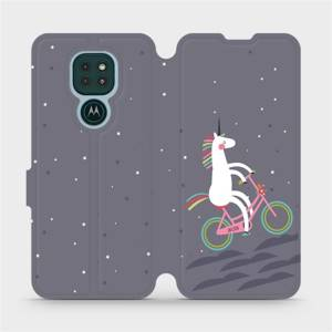 Flipové pouzdro Mobiwear na mobil Motorola Moto G9 Play - V024P Jednorožec na kole