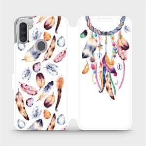 Flipové pouzdro Mobiwear na mobil Samsung Galaxy M11 - M003S Lapač a barevná pírka