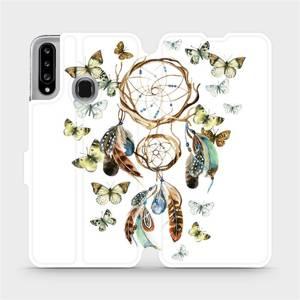 Flipové pouzdro Mobiwear na mobil Samsung Galaxy A20S - M001P Lapač a motýlci