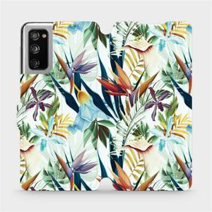 Flipové pouzdro Mobiwear na mobil Samsung Galaxy S20 FE - M071P Flóra