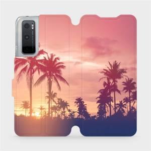 Flipové pouzdro Mobiwear na mobil Vivo Y70 - M134P Palmy a růžová obloha
