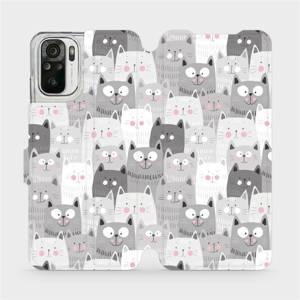 Flipové pouzdro Mobiwear na mobil Xiaomi Redmi Note 10 - M099P Kočičky