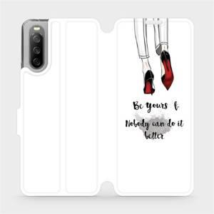 Flip pouzdro Mobiwear na mobil Sony Xperia 10 III - M046P Be yourself