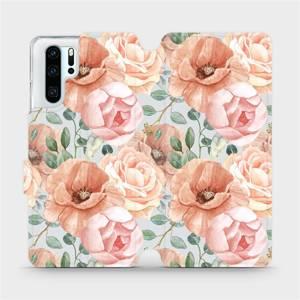 Flip pouzdro Mobiwear na mobil Huawei P30 Pro - MP02S Pastelové květy