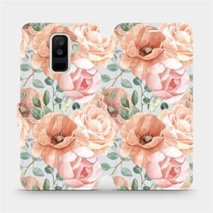 Flip pouzdro Mobiwear na mobil Samsung Galaxy A6 Plus 2018 - MP02S Pastelové květy