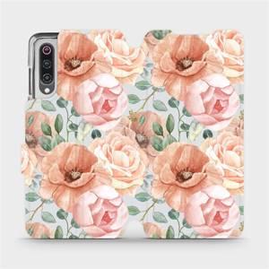 Flip pouzdro Mobiwear na mobil Xiaomi Mi 9 - MP02S Pastelové květy