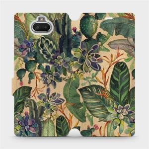 Flip pouzdro Mobiwear na mobil Sony Xperia 10 - VP05S Sukulenty