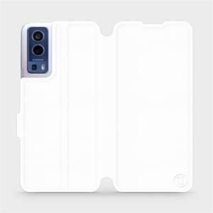 Flip pouzdro Mobiwear na mobil Vivo Y72 5G / Vivo Y52 5G v provedení C_WHS White&Gray s šedým vnitřkem