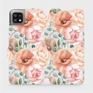 Flip pouzdro Mobiwear na mobil Samsung Galaxy A22 5G - MP02S Pastelové květy
