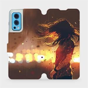 Flip pouzdro Mobiwear na mobil OnePlus Nord 2 5G - MA02S Tetovaná dívka
