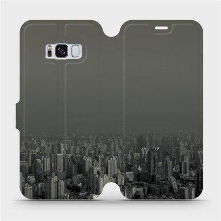 Flipové pouzdro Mobiwear na mobil Samsung Galaxy S8 - V063P Město v šedém hávu