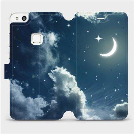 Flipové pouzdro Mobiwear na mobil Huawei P10 Lite - V145P Noční obloha s měsícem