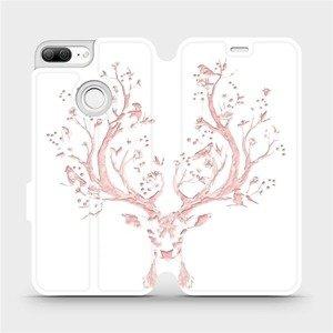 Flipové pouzdro Mobiwear na mobil Honor 9 Lite - M007S Růžový jelínek