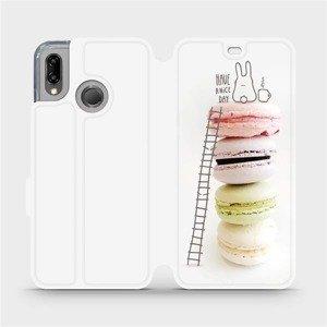 Flipové pouzdro Mobiwear na mobil Huawei P20 Lite - M090P Makronky - have a nice day