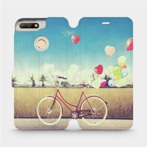 Flipové pouzdro Mobiwear na mobil Huawei Y6 Prime 2018 - M133P Kolo a balónky