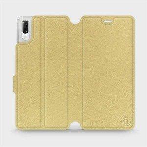 Flipové pouzdro Mobiwear na mobil Sony Xperia L3 v provedení C_GOP Gold&Orange s oranžovým vnitřkem